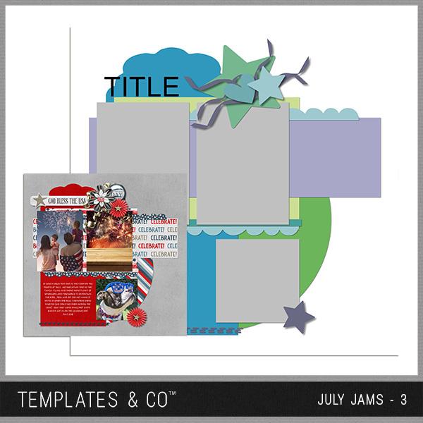 July Jams 3 Digital Art - Digital Scrapbooking Kits