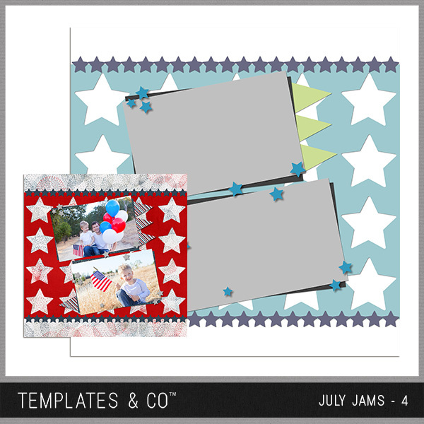 July Jams 4 Digital Art - Digital Scrapbooking Kits