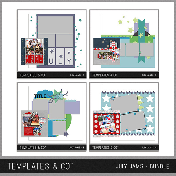 July Jams Bundle Digital Art - Digital Scrapbooking Kits