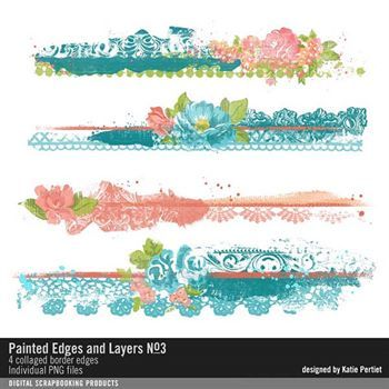 Painted Edges And Layers No. 03 Digital Art - Digital Scrapbooking Kits