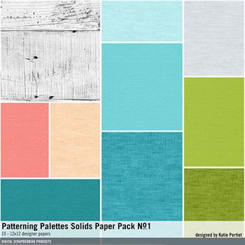 Patterning Palettes Solids Paper Pack No  01 | Digital Art
