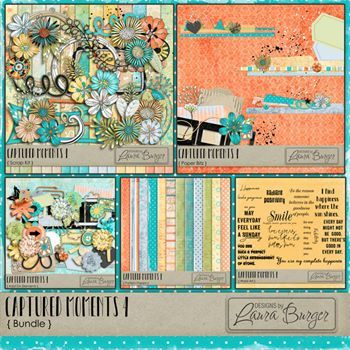 Captured Moments 4 Bundle Exclusive Products Digital Art - Digital Scrapbooking Kits