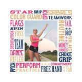 Color Guard Subway Art Canvas