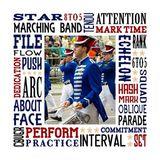 Marching Band Subway Art Canvas