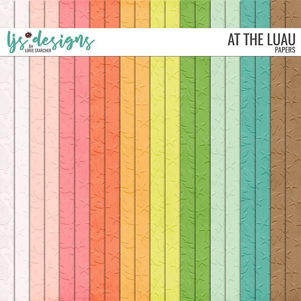 At The Luau Papers Digital Art - Digital Scrapbooking Kits