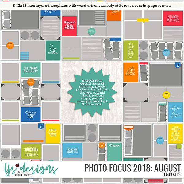 Photo Focus 2018 - August Digital Art - Digital Scrapbooking Kits