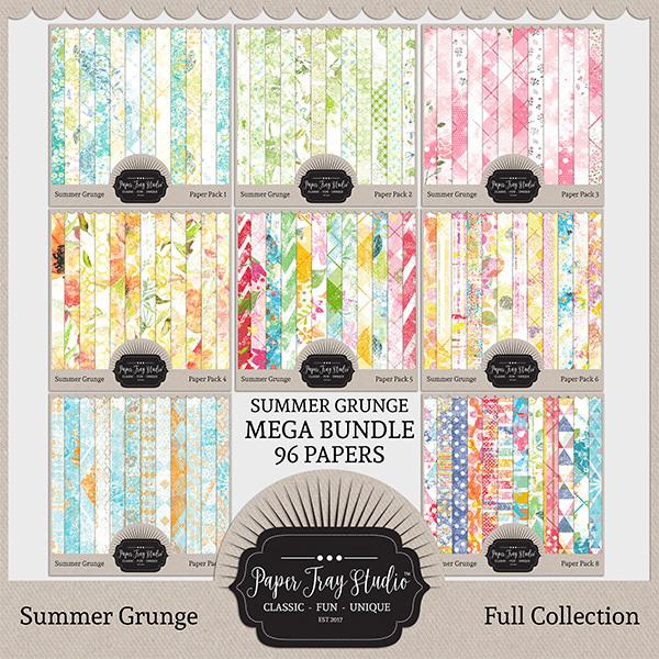 Summer Grunge - Mega Collection (sets 1-8) Digital Art - Digital Scrapbooking Kits