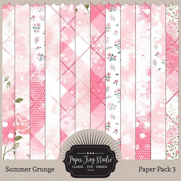 Summer Grunge - Set 3 Digital Art - Digital Scrapbooking Kits