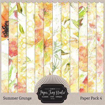 Summer Grunge - Set 4 Digital Art - Digital Scrapbooking Kits