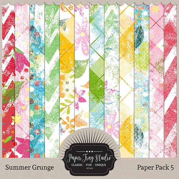 Summer Grunge - Set 5 Digital Art - Digital Scrapbooking Kits
