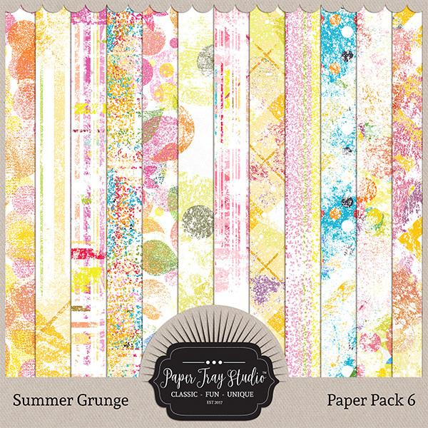 Summer Grunge - Set 6 Digital Art - Digital Scrapbooking Kits