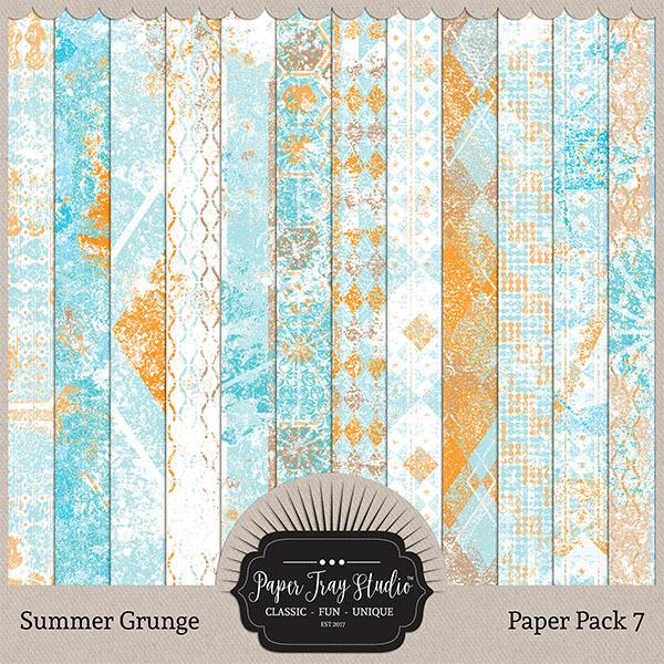Summer Grunge - Set 7 Digital Art - Digital Scrapbooking Kits