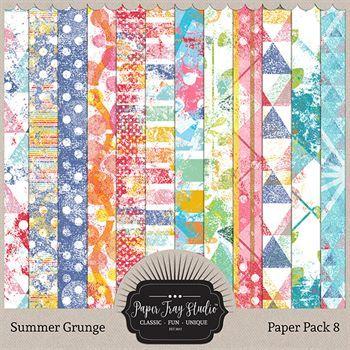 Summer Grunge - Set 8 Digital Art - Digital Scrapbooking Kits