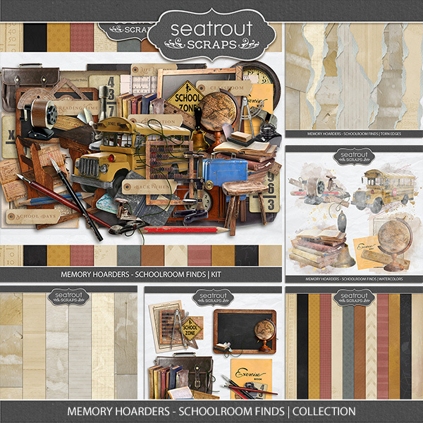 Memory Hoarders - Schoolroom Finds Collection Digital Art - Digital Scrapbooking Kits