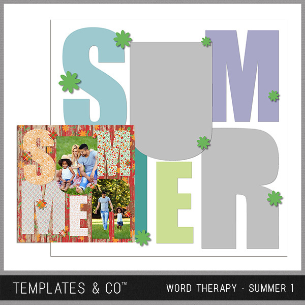 Word Therapy - Summer 1 Digital Art - Digital Scrapbooking Kits