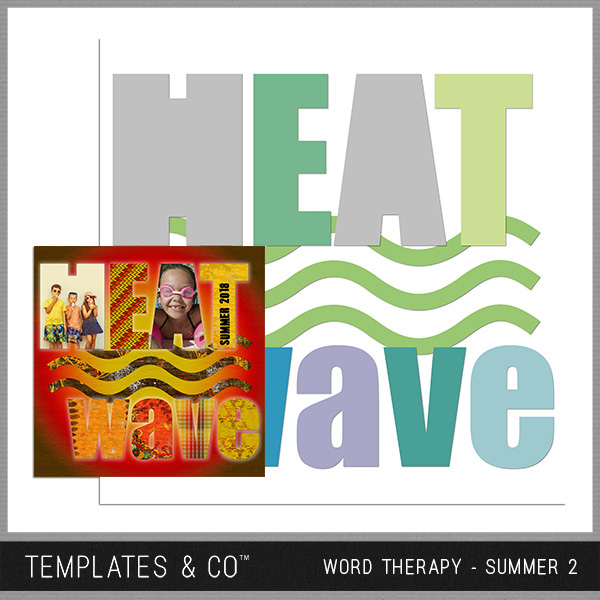 Word Therapy - Summer 2 Digital Art - Digital Scrapbooking Kits