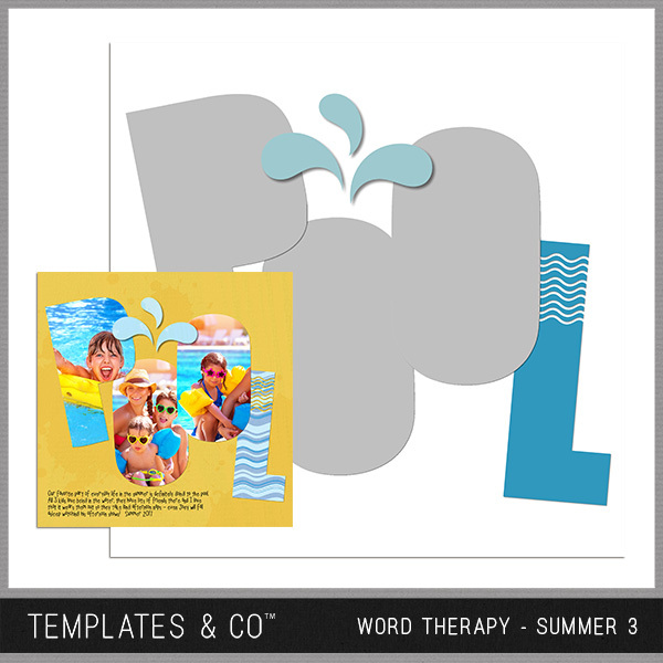 Word Therapy - Summer 3 Digital Art - Digital Scrapbooking Kits