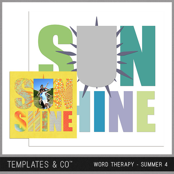 Word Therapy - Summer 4 Digital Art - Digital Scrapbooking Kits