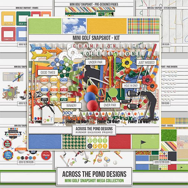 Mini Golf Lovers Mega Collection Digital Art - Digital Scrapbooking Kits