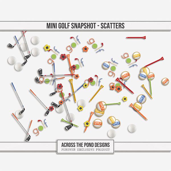 Mini Golf Lovers Snapshot - Scatters Digital Art - Digital Scrapbooking Kits