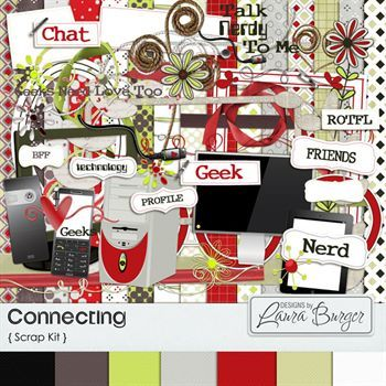 Connecting Scrap Kit Digital Art - Digital Scrapbooking Kits