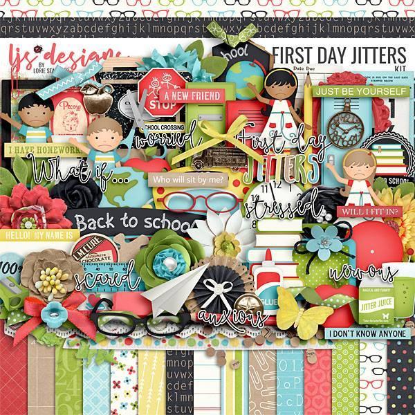 First Day Jitters 2.0 Digital Art - Digital Scrapbooking Kits