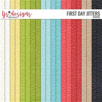 First Day Jitters 2.0 Papers Digital Art - Digital Scrapbooking Kits