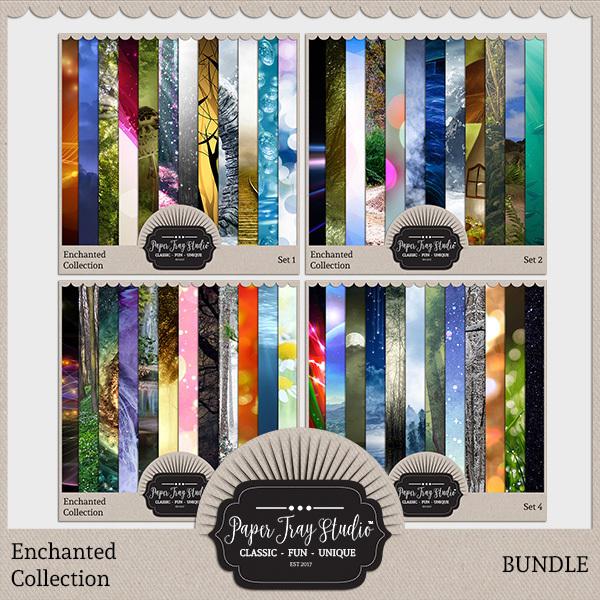 Enchanted - Bundle Digital Art - Digital Scrapbooking Kits