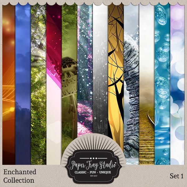 Enchanted - Set 1 Digital Art - Digital Scrapbooking Kits