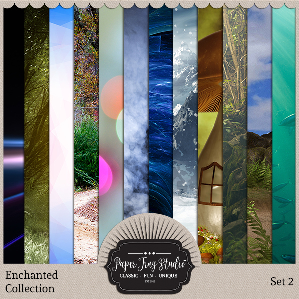 Enchanted - Set 2 Digital Art - Digital Scrapbooking Kits