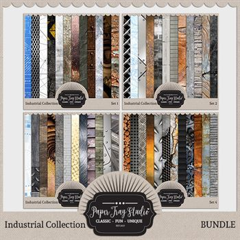 Industrial - Bundle Digital Art - Digital Scrapbooking Kits