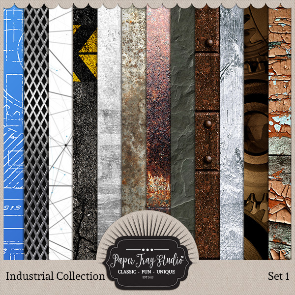 Industrial - Set 1 Digital Art - Digital Scrapbooking Kits