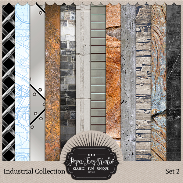 Industrial - Set 2 Digital Art - Digital Scrapbooking Kits