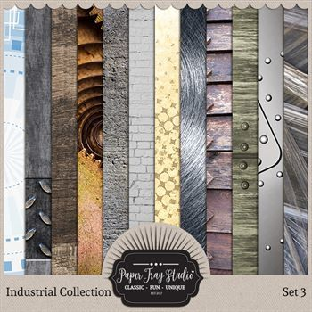 Industrial - Set 3 Digital Art - Digital Scrapbooking Kits