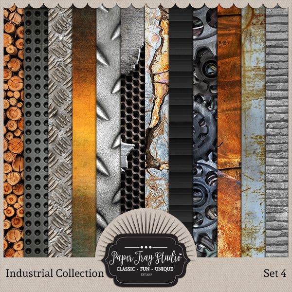 Industrial - Set 4 Digital Art - Digital Scrapbooking Kits