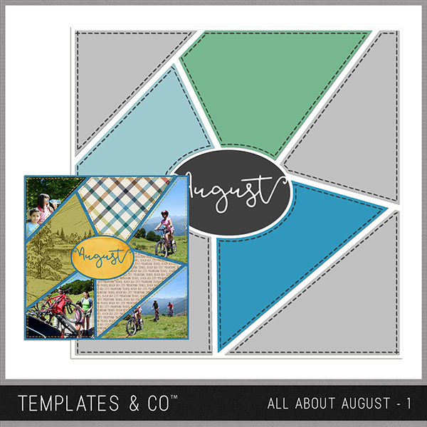 All About August 1 Digital Art - Digital Scrapbooking Kits