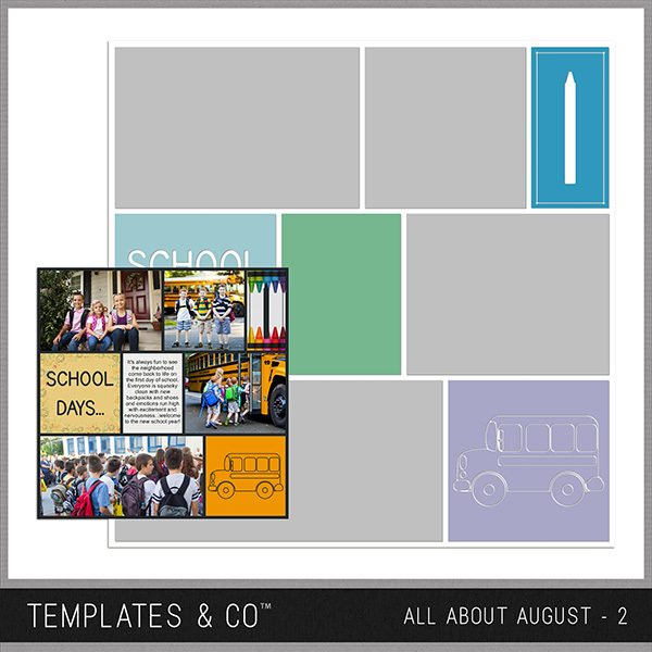 All About August 2 Digital Art - Digital Scrapbooking Kits