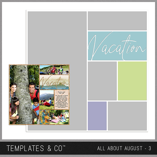 All About August 3 Digital Art - Digital Scrapbooking Kits