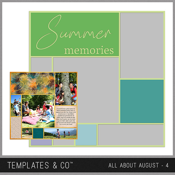 All About August 4 Digital Art - Digital Scrapbooking Kits