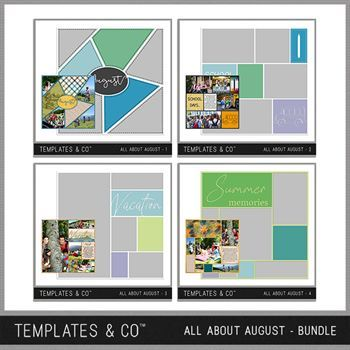 All About August Bundle Digital Art - Digital Scrapbooking Kits