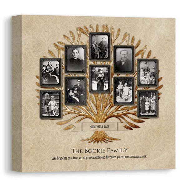 Vintage Family Tree 1 Canvas