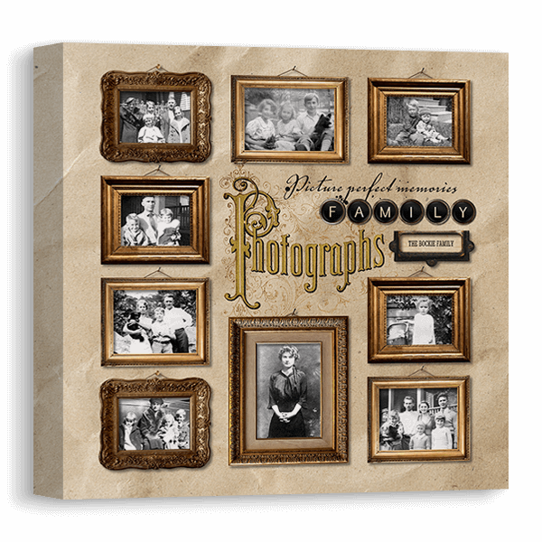 Vintage Photo Gallery Canvas