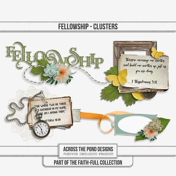 Faithfull Series - Fellowship Clusters Digital Art - Digital Scrapbooking Kits