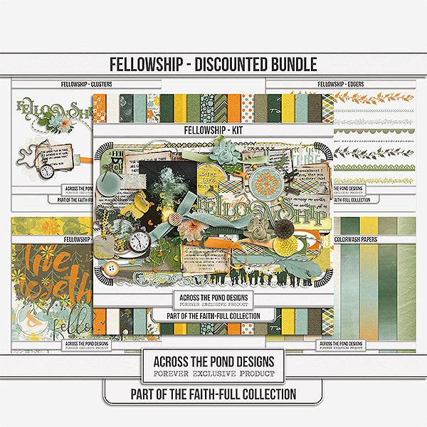 Faithfull Series - Fellowship Discounted Bundle Digital Art - Digital Scrapbooking Kits
