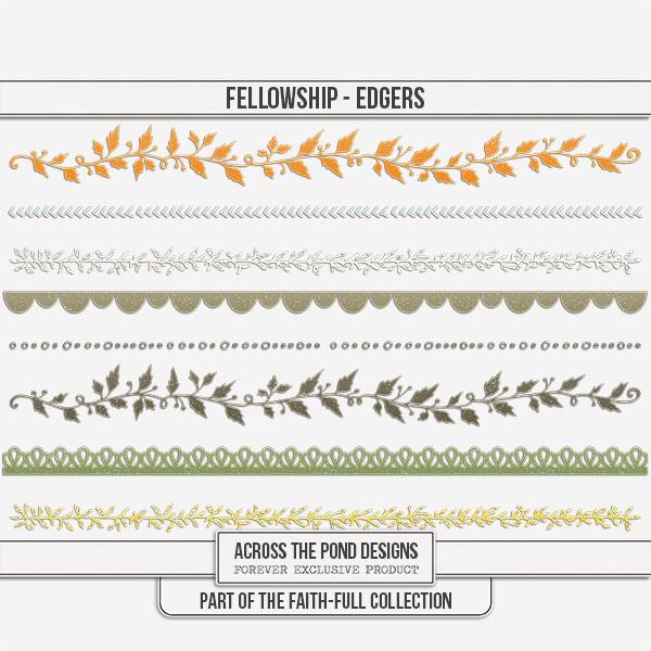 Faithfull Series - Fellowship Edgers Digital Art - Digital Scrapbooking Kits