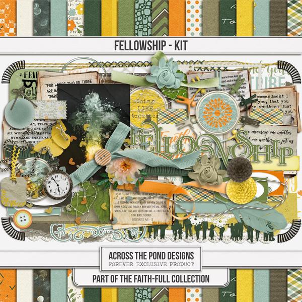 Faithfull Series - Fellowship Page Kit Digital Art - Digital Scrapbooking Kits