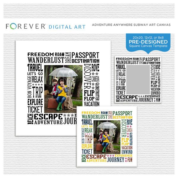 65e2ce18682f ... Digital Scrapbooking Kits. Adventure Anywhere Subway Art