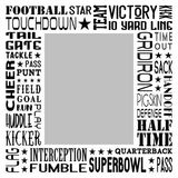 American Football Star Subway Art