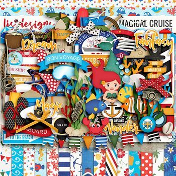 A Magical Cruise Digital Art - Digital Scrapbooking Kits