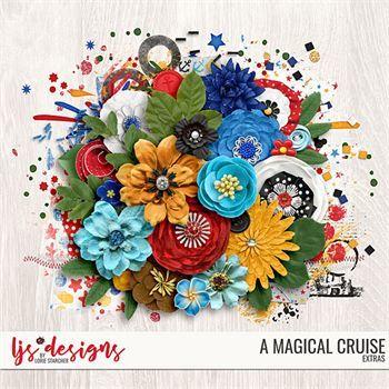 A Magical Cruise Extras Digital Art - Digital Scrapbooking Kits
